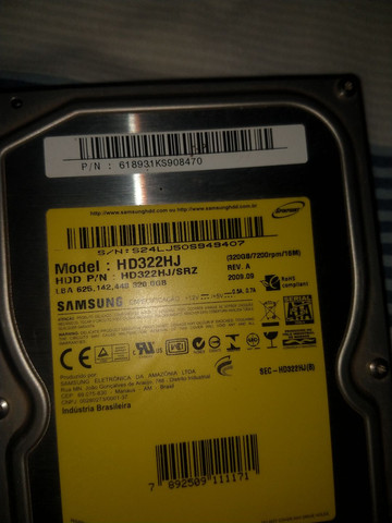 2 HD Samsung 320 GB cada