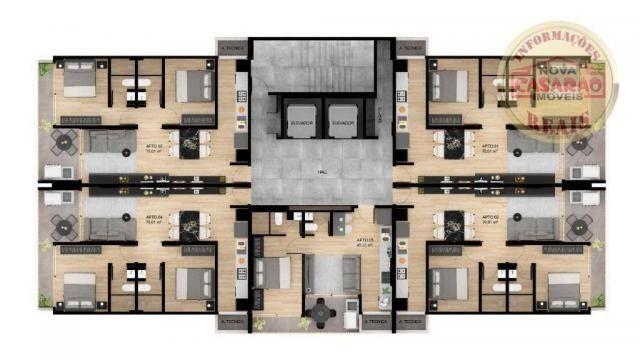 Apartamento com 1 dormitório à venda, 45 m² por R$ 207.000,00 - Canto do Forte - Praia Gra - Foto 14