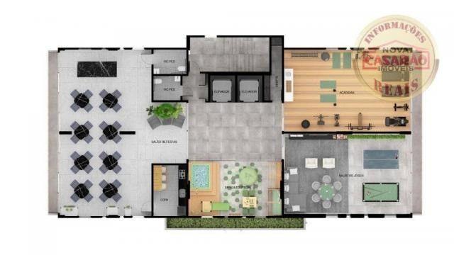 Apartamento com 1 dormitório à venda, 45 m² por R$ 207.000,00 - Canto do Forte - Praia Gra - Foto 13