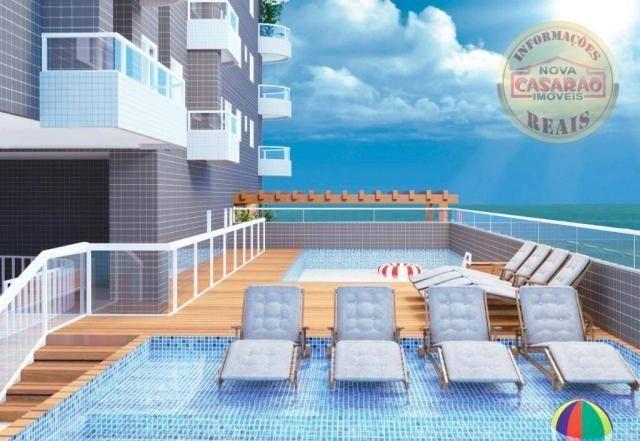 Apartamento com 1 dormitório à venda, 46 m² por R$ 232.000 - Vila Caiçara - Praia Grande - Foto 3