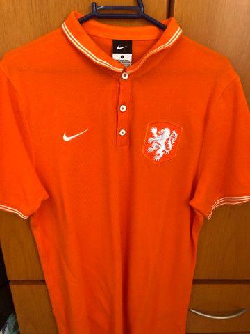 Polo Original Nike Holanda Tamanho G - Foto 2