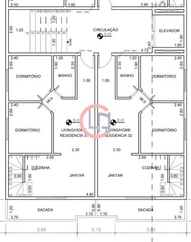 Apartamento à venda, 2 quartos, 1 vaga, Vila Scarpelli - Santo André/SP