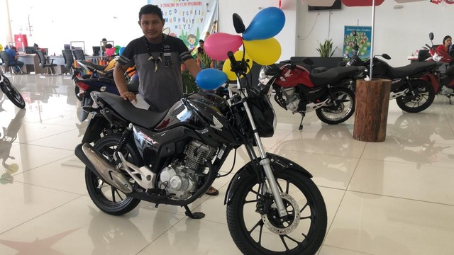 Moto Honda CG FAN 160 PRETA COMPLETA 2022 - Foto 3
