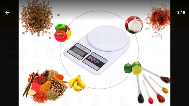 Balança Digital Eletrônica 1g a 10kg - Foto 3