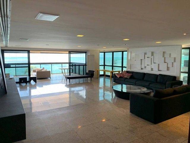 Apartamento para venda possui 349m² com 4 suítes na Orla da Ponta Verde - Maceió - AL - Foto 3