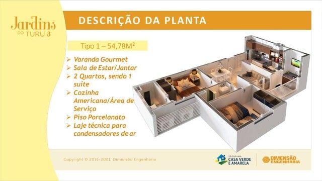 Lançamento Cond. Jardins do Turu III - Aptos c/ 2 qtos - Blocos com Elevadores - Foto 15