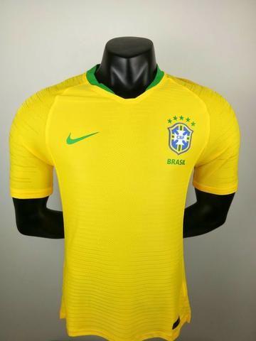16893197df7e8 Camisa Brasil Copa Russia 2018 Modelo Jogador Seleção Nike - Roupas ...