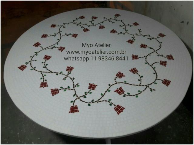 Mesa mosaico jantar varanda moveis - Foto 3