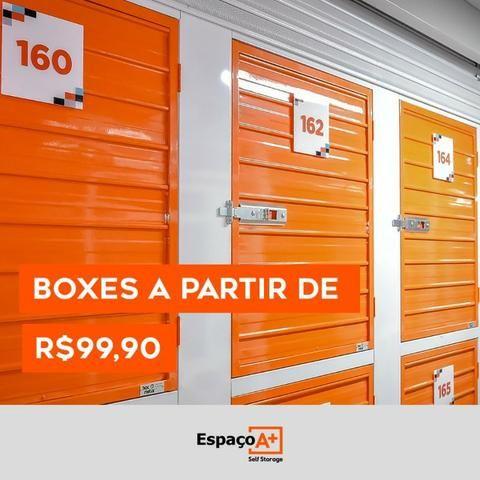 Alugue Box individuais de 1m2 à 100m2 à partir de R$ 99,90 - Contratos mensais !!
