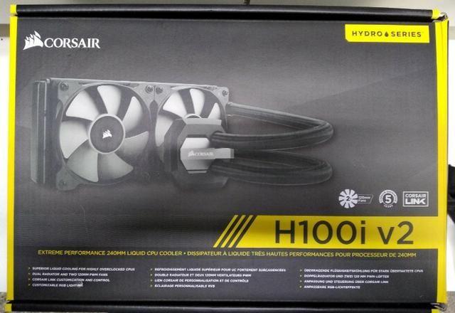 Hidro Cooler, Water cooler Corsair H100I V2 - Novo na caixa com NF
