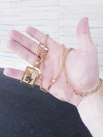 Corrente fé banhado a ouro