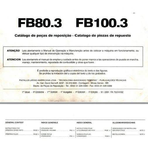 Catálogo peças, manual, Ad7b, Uniport, FG85, FR12, FB80, 70ci, FH200, 4CT - Foto 5