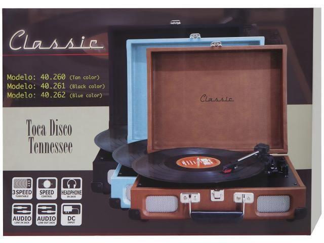 Vitrola Toca Discos Portátil Tennessee - Novo na caixa