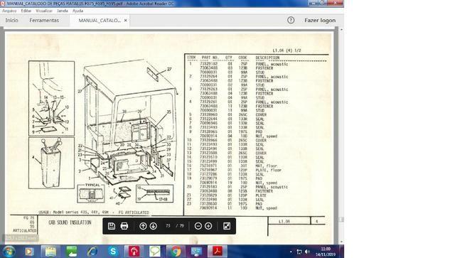 Catálogo peças, manual, Ad7b, Uniport, FG85, FR12, FB80, 70ci, FH200, 4CT - Foto 10