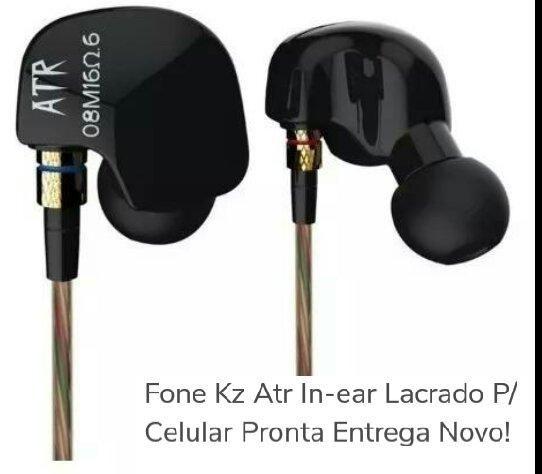 Fone KZ ATR retorno de palco R$ 55.00 Lacrado - Foto 6