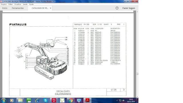 Catálogo peças, manual, Ad7b, Uniport, FG85, FR12, FB80, 70ci, FH200, 4CT - Foto 3