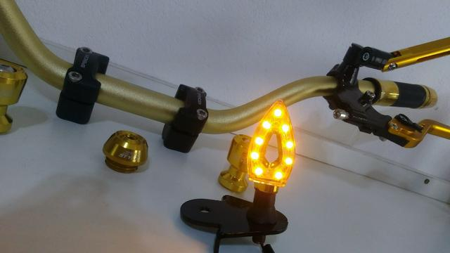 Kit Gold Special, Black, Red, Blue honda Del rey , Prata niquelado - Foto 8