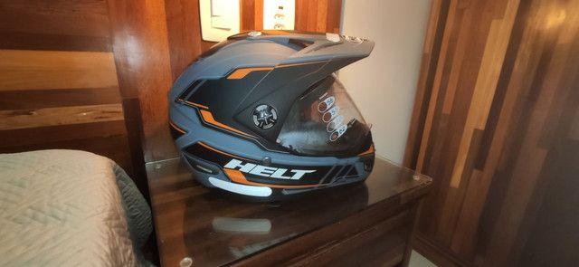 Capacete para moto cross Helt Cross Vision Triller laranja tamanho 62 - Foto 2