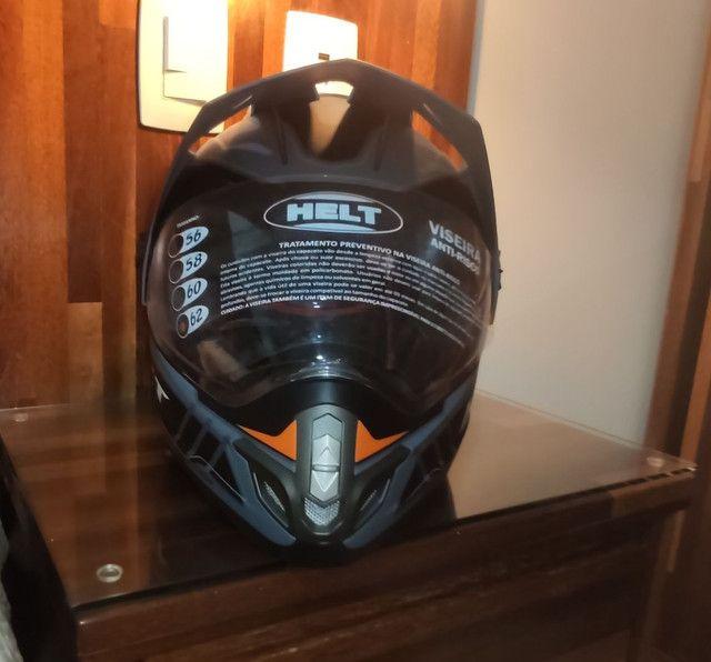 Capacete para moto cross Helt Cross Vision Triller laranja tamanho 62 - Foto 5