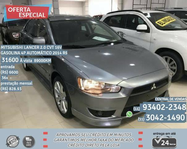 Cinza Mitsubishi lancer 2.0 cvt 16v gasolina 4p automático 2014 R$ 31.639 89000km