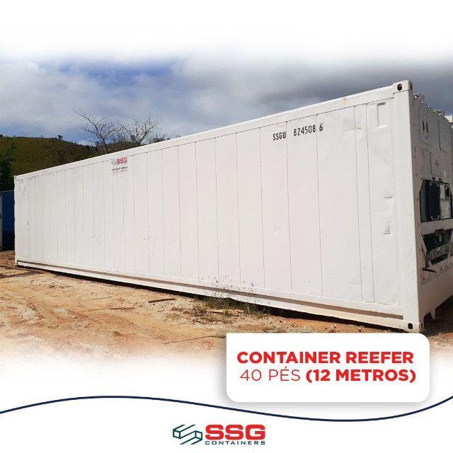 Locação Mensal Container Frigorífico 40, 20 e 10 pés tipo Câmara Fria usado aço inox - Foto 2