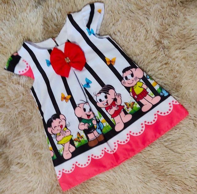 Vestido Turma da Mônica Tamanho 4