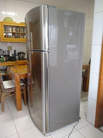 Refrigerador Brastemp Frost Free Duplex Ative Brm47b Inox - Foto 6