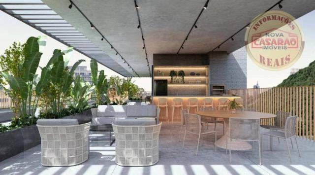 Apartamento com 1 dormitório à venda, 45 m² por R$ 207.000,00 - Canto do Forte - Praia Gra - Foto 6