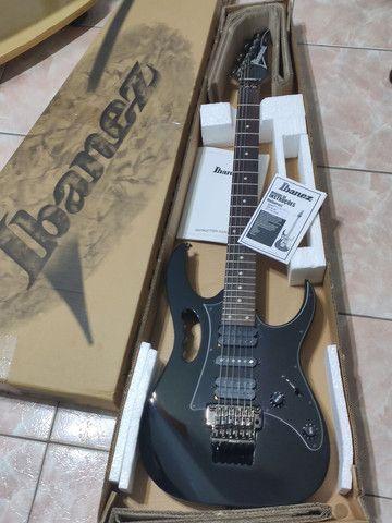 Guitarra Ibanez JEM Jr. Black - na caixa (somente Maringá) - Foto 6