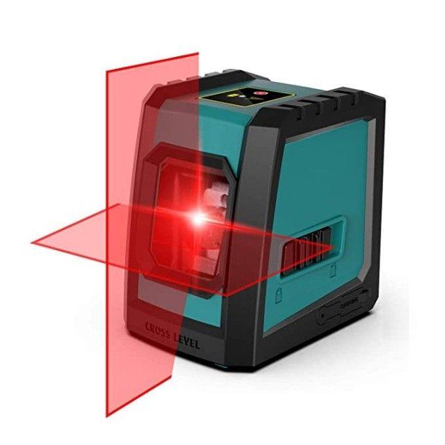Nível A Laser Vermelho Com Bateria Recarregável + Tripé Bolsa - Foto 2