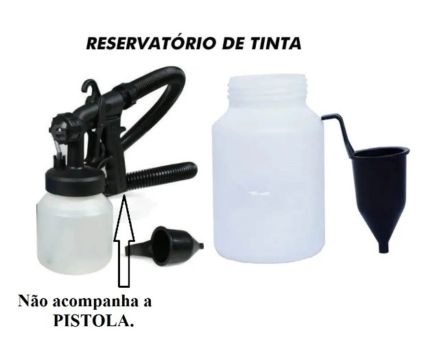 Copo reservatório + Funil para compressor de pintura paint 650w - Foto 2
