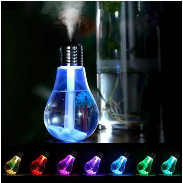 Umidificador de ar  lâmpada led usb luzes casa - Foto 2