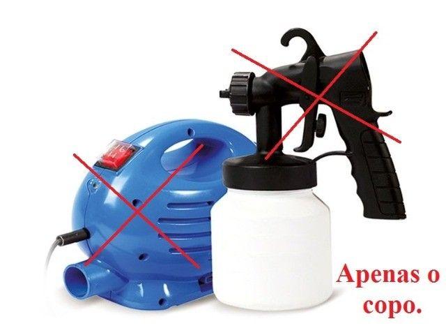 Copo reservatório + Funil para compressor de pintura paint 650w - Foto 3