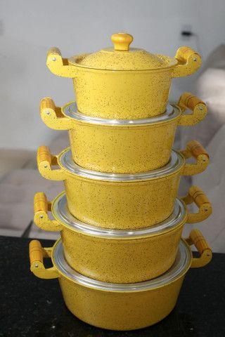 Jogo de panelas de aluminio batido com pintura eletrostática  - Foto 6