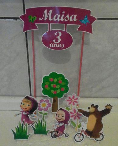 Topo de bolo - Masha e o urso