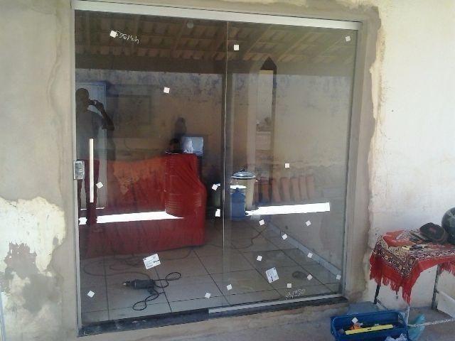 Porta de Correr 210x160 Incolor Vidro Temperado