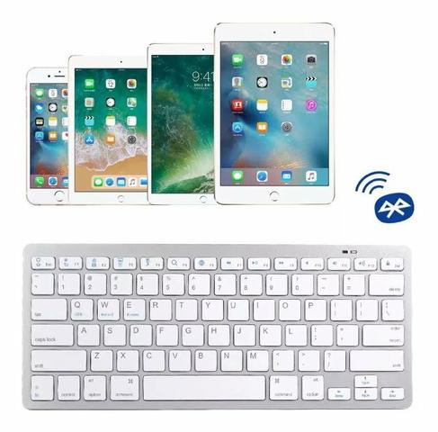 Mini Teclado Sem Fio Bluetooth Wireless Pc Tablet - Foto 2