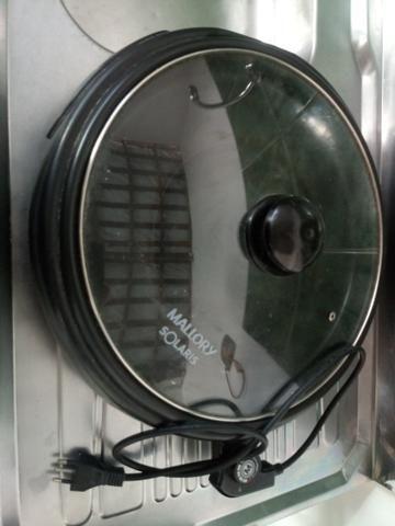 Grill Elétrico Mallory Solaris com Tampa de Vidro 40 Cm - Preto
