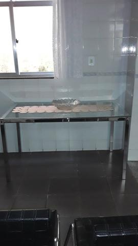 Mesa de vidro inox pouco usada top