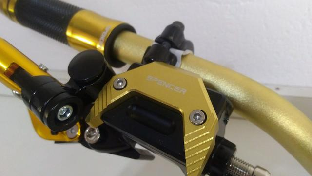 Kit Gold Special, Black, Red, Blue honda Del rey , Prata niquelado - Foto 3