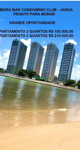 $180.000 Mil Apt 2/3Qts Beira Mar do Janga Lazer completo