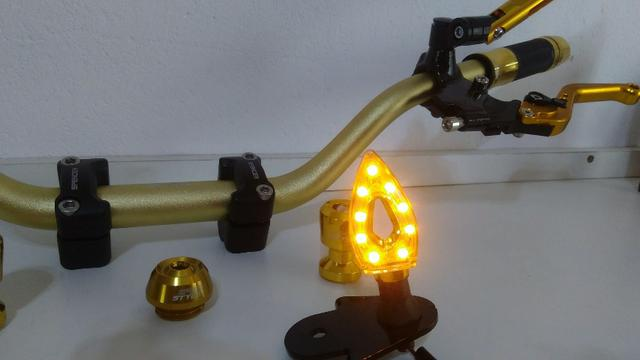 Kit Gold Special, Black, Red, Blue honda Del rey , Prata niquelado - Foto 10