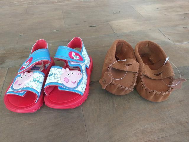 Sandália e mocacim infantil