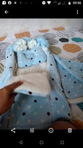 Ninho felpudo +manta+travesseiro
