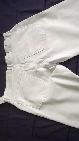 Calça branca feminina com lycra - Foto 3