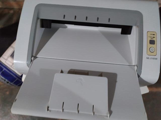 Impressora Laser Samsung ML 2165 W BW WiFi 110V Branca - Foto 3