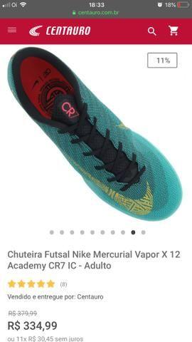 318c9492f2 Chuteira Nike Quadra VaporX 12 Academy 1 CR7 - Esportes e ginástica ...