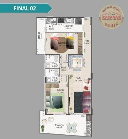 Apartamento com 1 dormitório à venda, 42 m² por R$ 212.150,00 - Balneário Flórida - Foto 7
