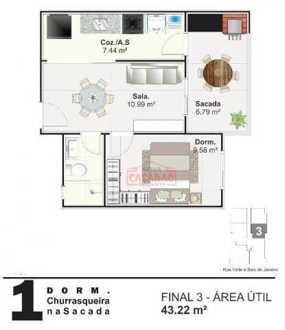 Apartamento com 01 dormitório na Vila Mirim, Praia Grande - Foto 5