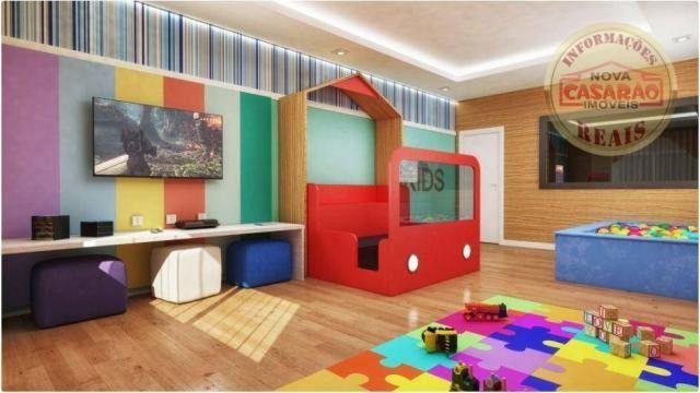 Apartamento com 2 dormitórios à venda, 77 m² por R$ 419.958 - Maracanã - Praia Grande - Foto 11